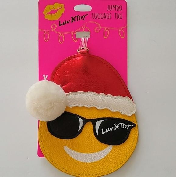 Betsey Johnson Handbags - Betsey Johnson emoji luggage tag new with tags